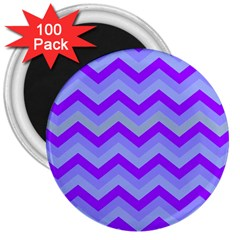 Chevron Blue 3  Magnets (100 Pack) by ImpressiveMoments
