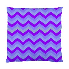 Chevron Blue Standard Cushion Cases (two Sides)  by ImpressiveMoments