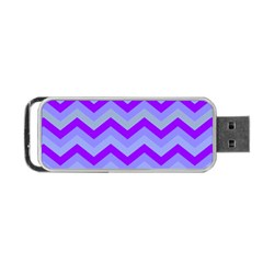 Chevron Blue Portable Usb Flash (one Side) by ImpressiveMoments