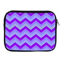 Chevron Blue Apple Ipad 2/3/4 Zipper Cases by ImpressiveMoments