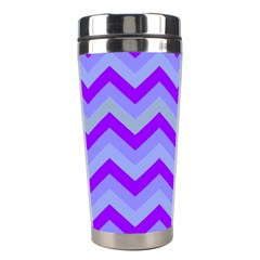Chevron Blue Stainless Steel Travel Tumblers by ImpressiveMoments