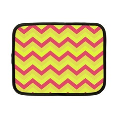 Chevron Yellow Pink Netbook Case (small)  by ImpressiveMoments