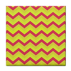 Chevron Yellow Pink Face Towel by ImpressiveMoments