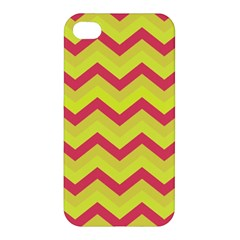 Chevron Yellow Pink Apple Iphone 4/4s Hardshell Case by ImpressiveMoments