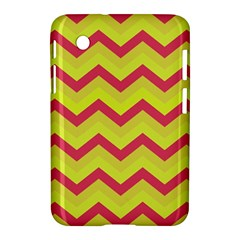 Chevron Yellow Pink Samsung Galaxy Tab 2 (7 ) P3100 Hardshell Case  by ImpressiveMoments
