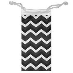 Chevron Dark Gray Jewelry Bags by ImpressiveMoments