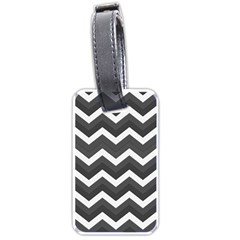 Chevron Dark Gray Luggage Tags (one Side)  by ImpressiveMoments