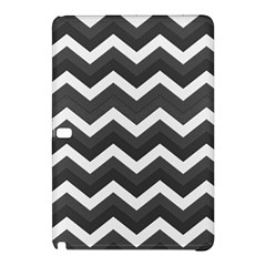 Chevron Dark Gray Samsung Galaxy Tab Pro 10 1 Hardshell Case by ImpressiveMoments