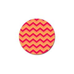 Chevron Peach Golf Ball Marker (4 Pack) by ImpressiveMoments
