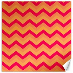 Chevron Peach Canvas 12  X 12