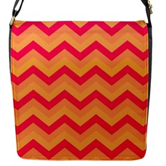Chevron Peach Flap Messenger Bag (s) by ImpressiveMoments