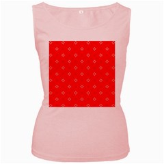 Cute Seamless Tile Pattern Gifts Women s Pink Tank Tops by creativemom