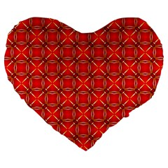Cute Seamless Tile Pattern Gifts Large 19  Premium Heart Shape Cushions by creativemom