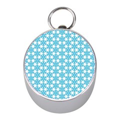 Cute Seamless Tile Pattern Gifts Mini Silver Compasses by creativemom