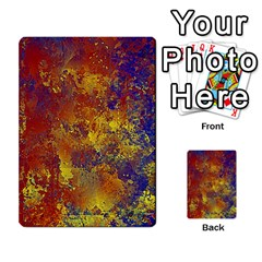 Abstract In Gold, Blue, And Red Multi-purpose Cards (rectangle)