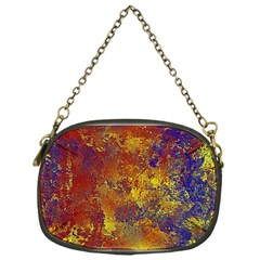 Abstract In Gold, Blue, And Red Chain Purses (one Side)  by digitaldivadesigns