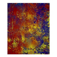 Abstract In Gold, Blue, And Red Shower Curtain 60  X 72  (medium)  by digitaldivadesigns