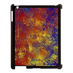 Abstract In Gold, Blue, And Red Apple Ipad 3/4 Case (black) by digitaldivadesigns