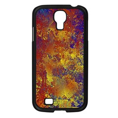 Abstract In Gold, Blue, And Red Samsung Galaxy S4 I9500/ I9505 Case (black) by digitaldivadesigns