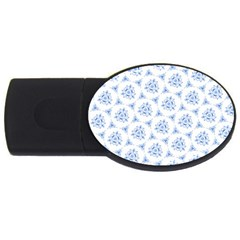 Sweet Doodle Pattern Blue Usb Flash Drive Oval (2 Gb)  by ImpressiveMoments