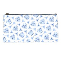 Sweet Doodle Pattern Blue Pencil Cases by ImpressiveMoments