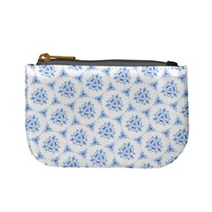Sweet Doodle Pattern Blue Mini Coin Purses by ImpressiveMoments