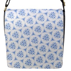 Sweet Doodle Pattern Blue Flap Messenger Bag (s) by ImpressiveMoments