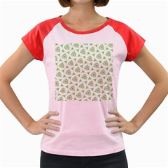 Sweet Doodle Pattern Green Women s Cap Sleeve T Shirt by ImpressiveMoments
