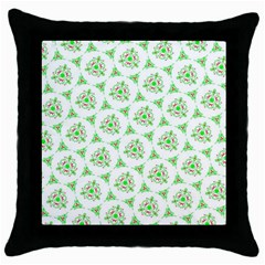 Sweet Doodle Pattern Green Throw Pillow Cases (black) by ImpressiveMoments