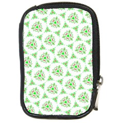 Sweet Doodle Pattern Green Compact Camera Cases by ImpressiveMoments