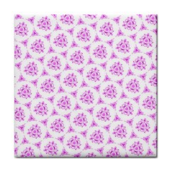 Sweet Doodle Pattern Pink Tile Coasters by ImpressiveMoments