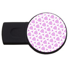 Sweet Doodle Pattern Pink Usb Flash Drive Round (2 Gb)  by ImpressiveMoments