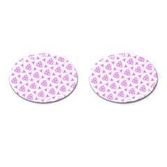 Sweet Doodle Pattern Pink Cufflinks (oval) by ImpressiveMoments