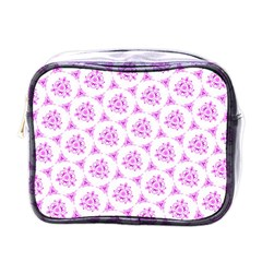 Sweet Doodle Pattern Pink Mini Toiletries Bags by ImpressiveMoments