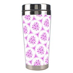 Sweet Doodle Pattern Pink Stainless Steel Travel Tumblers by ImpressiveMoments