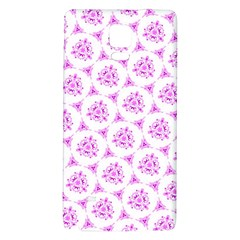 Sweet Doodle Pattern Pink Galaxy Note 4 Back Case by ImpressiveMoments