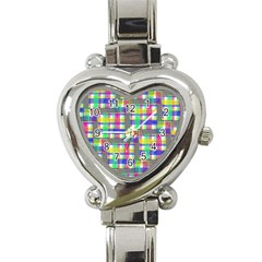 Doodle Pattern Freedom  Heart Italian Charm Watch by ImpressiveMoments