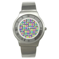 Doodle Pattern Freedom  Stainless Steel Watches by ImpressiveMoments