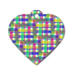 Doodle Pattern Freedom  Dog Tag Heart (two Sides) by ImpressiveMoments