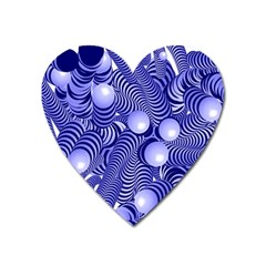 Doodle Fun Blue Heart Magnet by ImpressiveMoments