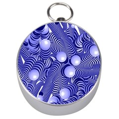 Doodle Fun Blue Silver Compasses by ImpressiveMoments