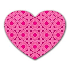 Cute Seamless Tile Pattern Gifts Heart Mousepads