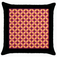 Cute Seamless Tile Pattern Gifts Throw Pillow Cases (black) by creativemom