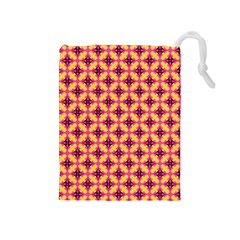 Cute Seamless Tile Pattern Gifts Drawstring Pouches (medium)  by creativemom