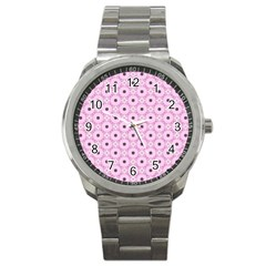 Cute Seamless Tile Pattern Gifts Sport Metal Watches by creativemom