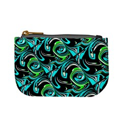 Bright Aqua, Black, And Green Design Mini Coin Purses by digitaldivadesigns