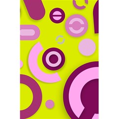 Florescent Yellow Pink Abstract  5 5  X 8 5  Notebooks by OCDesignss