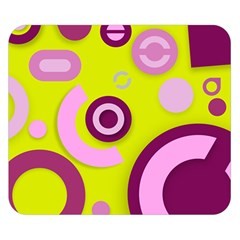 Florescent Yellow Pink Abstract  Double Sided Flano Blanket (small)  by OCDesignss
