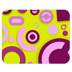 Florescent Yellow Pink Abstract  Double Sided Flano Blanket (medium)  by OCDesignss