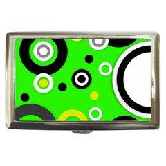 Florescent Green Yellow Abstract  Cigarette Money Cases by OCDesignss